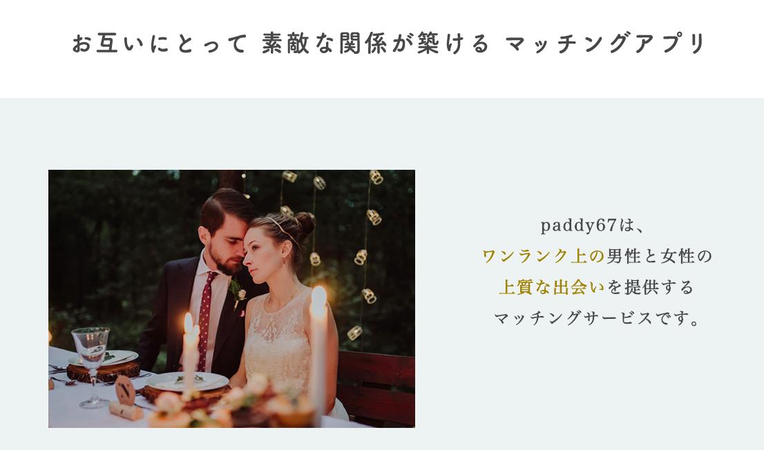 paddy67(今すぐ会えるマッチングアプリ)~ワンランク上の理想の関係が作れる~とは?