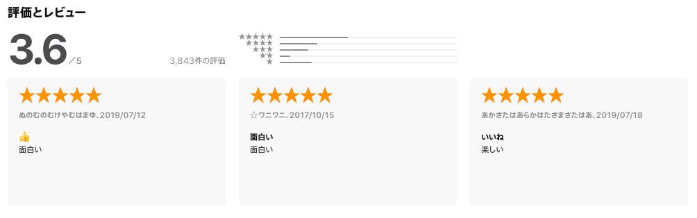ワクワク アプリ 評価